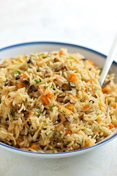 Rice Side Dishes, Pasta Dishes, Veggie Dishes, Vegetarian Recipes, Cooking Recipes, Healthy Recipes, Savoury Recipes, Couscous Quinoa, Stuffed Mushrooms