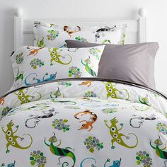 Leaping Lizards Percale Bedding