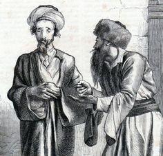 Antique print portrait jewish men Jerusalem jews 1866 Gerusalemme stampa antica