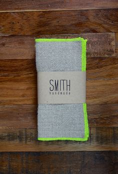 Set of 6 Linen cocktail napkins  NEON by SMITHhandmade on Etsy, $18.00