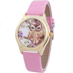 W8sunjs Owl Print Dial Wrist Quartz Watches Pink for Women Girls WOMAGE http://www.amazon.com/dp/B00HQYNR12/ref=cm_sw_r_pi_dp_-7vfvb1P8MHND