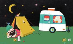 Camping is the answer. Who cares what the question is? Illustration by Tjarda Borsboom - www.zwiep.nu
