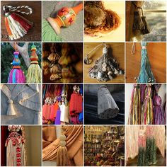 PASSEMENTERIE ~ How to use the beautiful French tassels you found.