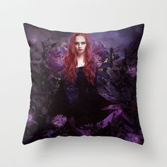 The Garden of Good and Evil Throw Pillow by Alexandra V Bach - $20.00