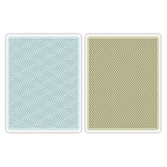 Sizzix Textured Impressions Embossing Folders 2PK - Hexagons & Chevrons Set €10,19