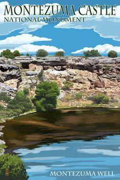 Montezuma Castle, Arizona - - Montezuma Well -