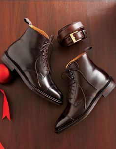 Brooks Brothers — boots & belt