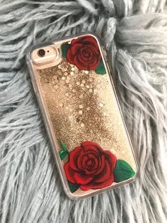 iPhone 8 Case Glitter iPhone 8 Plus Case Botanical Phone Case Liquid Glitter Phone Case Glitter iPhone 6 Plus Case Roses Phone Case - Cheap Phone Cases For Iphone Plus - Ideas of Cheap Phone Cases For Iphone Plus -