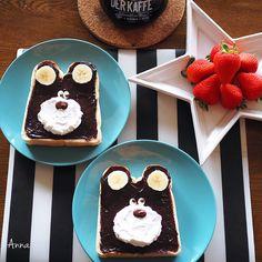 Chocolate bear toast by Anna (@nariselu_)