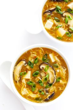 amazing Hot and Sour Soup recipe is super-easy to make in just 25 minutes, and tastes even better than the Chinese restaurant version! It's also a great healthy dinner recipe that's naturally vegetarian and gluten-free. Rice Recipes, Healthy Dinner Recipes, Asian Recipes, Soup Recipes, Cooking Recipes, Ethnic Recipes, Chinese Recipes, Chili Recipes, Yummy Recipes
