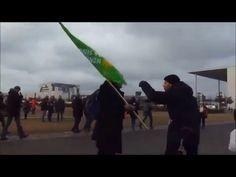 gesteuerte Bündnis 90 Grüne pöbelt dumm am Reichstag Berlin 16.Januar 2016