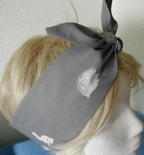 SQUIRREL, BUNNY, HEDGEHOG, OWL 50s Style Rockabilly Pin Up Head Scarf