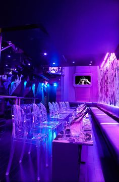 Purple Aesthetic, Retro Aesthetic, Neon Bedroom, Bedroom Decor, Galaxy Room, Nightclub Design, Lounge Design, Home And Deco, Dream Rooms