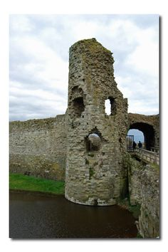 Pevensey Castle 3rd century Roman fortress- East Sussex England