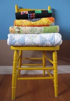 The emotions of quilting - quilts-on-yellow-chair
