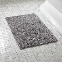 Loop White Bath Rug  Crate And Barrel  Rugs Crate And Barrel Awesome Black And White Bathroom Rugs Design Decoration
