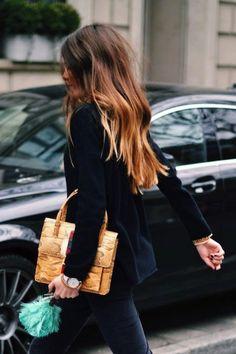 Dark, brunette ombre via Le Fashion Fashion Mode, Look Fashion, Fashion Beauty, Fashion Tips, 80s Fashion, Fashion Fall, Fashion 2020, Korean Fashion, High Fashion