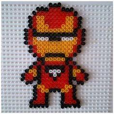 Iron man en perles à repasser modèle pattern