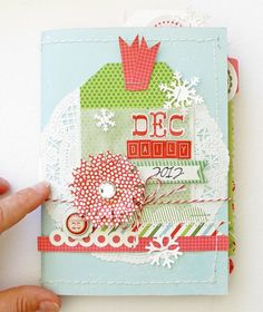 2012 December Daily - Two Peas in a Bucket http://www.cartabellapaper.com/blog/creating-a-december-daily-with-designer-kim-watson/kim-watsondec-daily-2012cover/