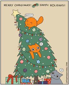 Merry Christmas! Happy Holidays! | Cat vs. Human comic