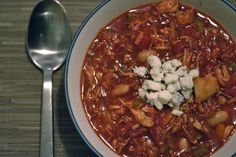 Slow Cooker Buffalo Chicken Chili | Once A Month Meals | Freezer Cooking | OAMC
