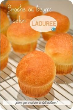 Brioche butter Ladurée home . - Well done for your apple! Bread Dough Recipe, Pie Crust Recipes, Cake Recipes, Brioche Recipe, Brioche Bread, Bread And Pastries, French Pastries, Croissants, Diy Ice Cream Cake