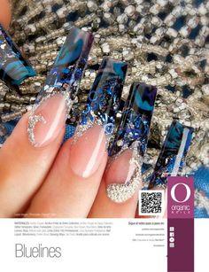 Laura Vargas/ ProMaster Organic® Nails Edge Nails, Long Square Nails, Organic Nails, Bright Nails, Oval Nails, Acrylic Gel, Beautiful Nail Designs, Finger Painting, Fancy Nails
