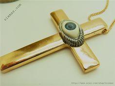50 off Latin cross eye charm long necklace / length 76cm by sixmas, $6.29
