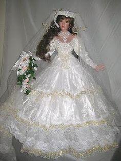 ~ Golden Dreams ~ Rustie Bride Doll vickysplace1.blogspot.com