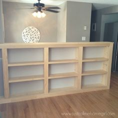 Turn Your Ordinary Railings Into Beautiful Built-ins! - how to turn your ordinary railings into beautiful built ins, closet, organizing, painted furniture, - Home Improvement Projects, Home Projects, Half Walls, Stair Storage, Basement Storage, Wall Storage, Basement Remodeling, Basement Plans, Modern Basement