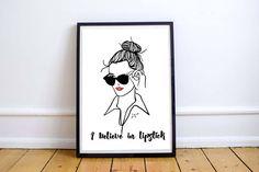 sunglasses & lipstick - fashion illustrations by Rocio Vigne studio