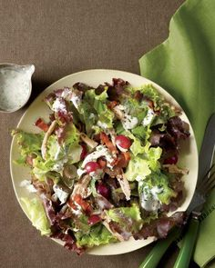 Chicken and Grape Salad Recipe; fall take on mixed leaf salad.  Calls for Bleu Cheese - always a winner!