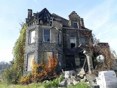 Abandoned social hall in McKeesport, Pennsylvania.