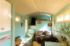 Refreshing tiny house is built using gooseneck trailer