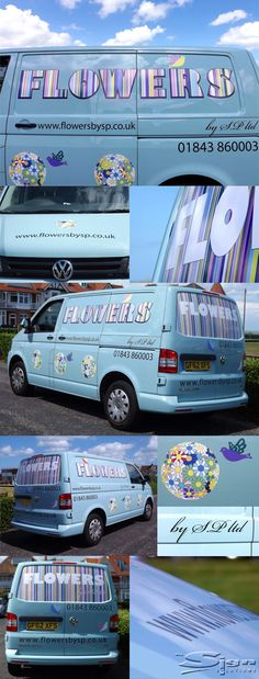 ef279feaaa40a4 By All Sign Solutions for Flowers by SP. All Sign Solutions · Vehicle Livery