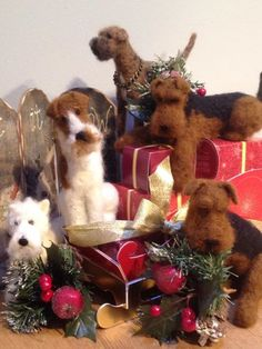 WoolyPaws Needle Felted Dogs https://www.facebook.com/SharonSalt4WoolPaws?fref=photo