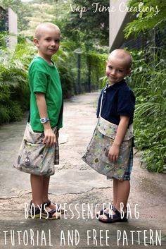 Boys Messenger Bag free pattern and tutorial from Nap-Time Creations