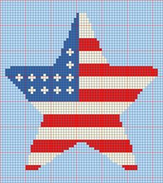 Free Star Flag Afghan Pattern from CitiUSA for Crochet...http://www.citiusa.com for more