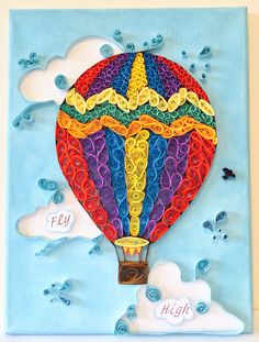 My quilled hot air balloon