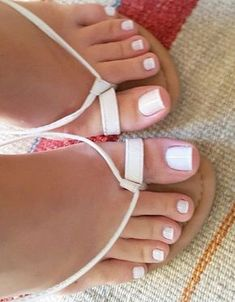 Beautifully pedicured toes