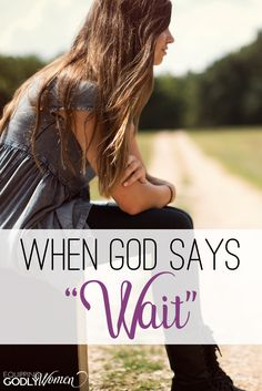 How do you respond when God says wait? Get the answers and encouragement you need here. Plus, a free video series you won't want to miss! Christian Women, Christian Living, Christian Faith, Walk By Faith, Faith In God, Waiting On God, Chances Of Getting Pregnant, Understanding The Bible, Bible Verses About Love