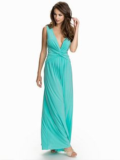 Deep Jersey Knot Dress - Nly Eve - Mint - Party Dresses - Clothing - Women