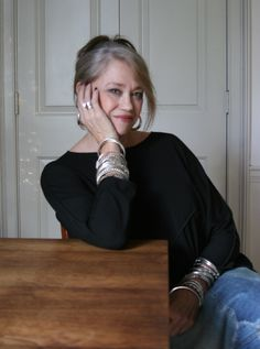 Inspired by Jean's collection of 30 years, I am now on the hunt for silver bangles for small wrists.