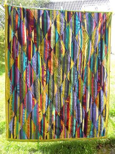 Stringquilt by edeltraudewert on Flickr.