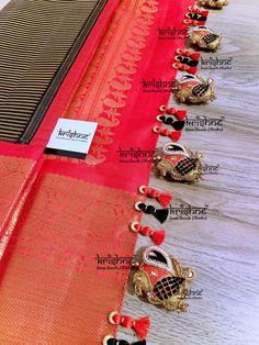 Saree Jacket Designs, Saree Tassels Designs, Saree Kuchu Designs, Silk Saree Blouse Designs, Saree Blouse Patterns, Silk Sarees, Saree Jackets, Wedding Saree Collection, Maggam Work Designs