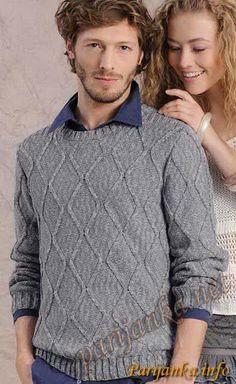 Пуловер (м) 02*72 Phildar №2692