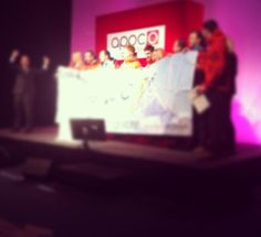 The Kilimanjaro hikers on stage (UK & ROI Owners Meeting 2013)