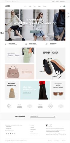 Leo Kylie is clean and modern design responsive #Prestashop theme for stunning fashion store #eCommerce website with 5 unique homepage layouts to live preview & download click on Visit #webdesigntips