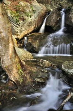 Fern Creek Lost Wallet Falls at New River Gorge by Ed Rehbein Photography