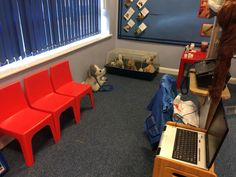 Vets. Veterinary surgery. EYFS Classroom role play area.